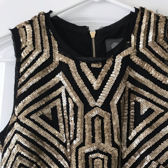 Vince Camuto Dresses & Skirts - Black and gold Art Deco inspired sequin dress